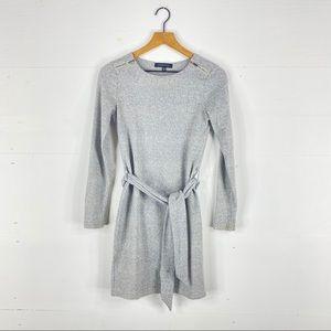 Dynamite Gray Belted Sweater Dress Size XS